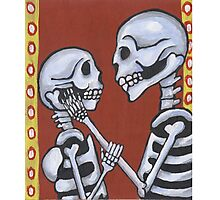 Dia de los Muertos Skeletons in Love Photographic Print