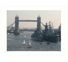 The Mighty Thames  Art Print