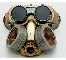 Steampunk Gas Mask and Goggles Photographic Print
