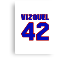 National baseball player Omar Vizquel jersey 42 Canvas Print