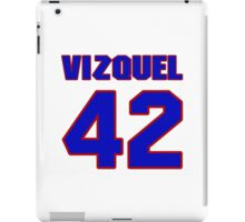 National baseball player Omar Vizquel jersey 42 iPad Case/Skin