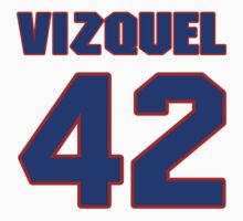 National baseball player Omar Vizquel jersey 42 by imsport