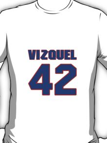 National baseball player Omar Vizquel jersey 42 T-Shirt