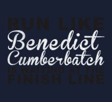 Run Like Benedict Cumberbatch is Waiting at the Finish Line Kids Tee