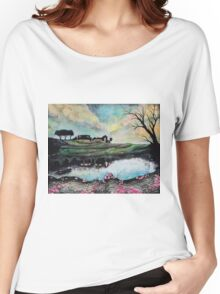 Landscape Reflected in Water Women's Relaxed Fit T-Shirt