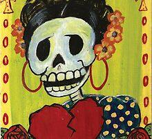 Dia de los muertos Skeleton Muerta by natashablue