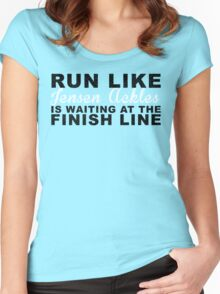 Run Like Jensen Ackles is Waiting at the Finish Line Women's Fitted Scoop T-Shirt