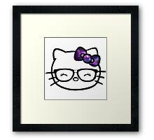 Hello Kitty w/ Galaxy Bow Framed Print