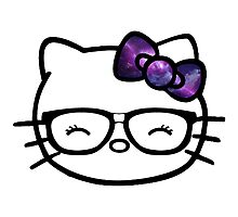 Hello Kitty w/ Galaxy Bow Photographic Print