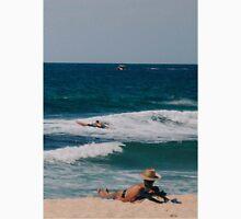 A typical Australian beach scene - summer. Unisex T-Shirt