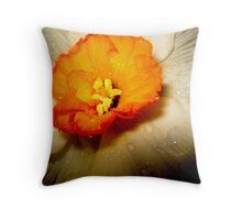 Daffodil Dew Throw Pillow