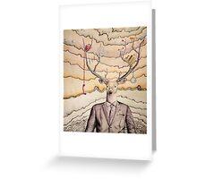 Work/Play Deer Greeting Card