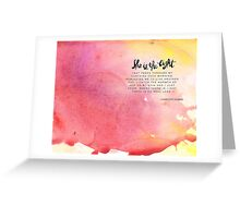 Lost of Words Calendar 2015 - October Greeting Card