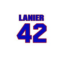 National baseball player Max Lanier jersey 42 Photographic Print