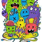 Test Tube Monsters Color by Octavio Velazquez