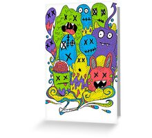 Test Tube Monsters Color Greeting Card