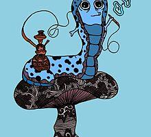 Hookah Smoking Catterpillar V3.0 by Octavio Velazquez