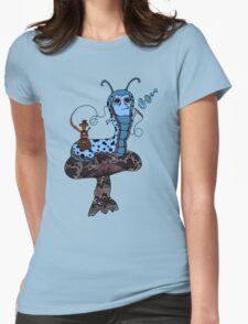 Hookah Smoking Catterpillar V3.0 Womens Fitted T-Shirt
