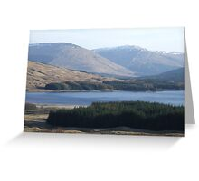View over Loch Tulla  Greeting Card