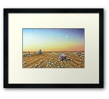 Two Moons in Gno Mans Land Framed Print