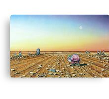 Two Moons in Gno Mans Land Canvas Print