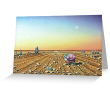 Two Moons in Gno Mans Land Greeting Card