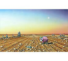 Two Moons in Gno Mans Land Photographic Print