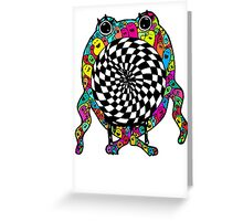 Warp Monster Greeting Card