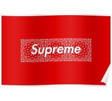 Supreme Red TNF Media Cases, Pillows, and More. Poster