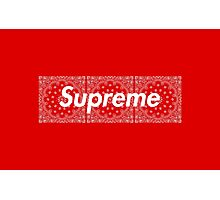 Supreme Red TNF Media Cases, Pillows, and More. Photographic Print