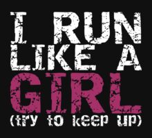 Run Like a Girl One Piece - Long Sleeve