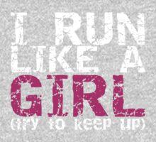 Run Like a Girl One Piece - Short Sleeve