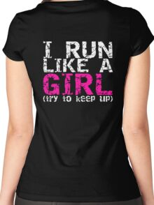 Run Like a Girl Women's Fitted Scoop T-Shirt