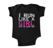 Run Like a Girl One Piece - Short Sleeve