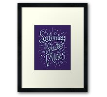 Saturday State of Mind Framed Print