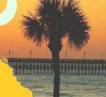 South Carolina Sun Sand Surf Sticker