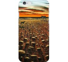 Working the Long Paddock iPhone Case/Skin