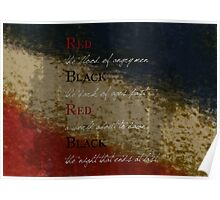 Les Mis-Red & Black  Poster