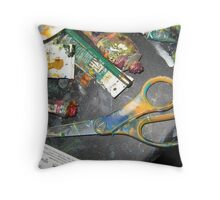 gallery blades Throw Pillow