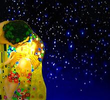 The kiss or Gustav Klimt. by algirdasdesign