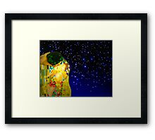 The kiss or Gustav Klimt. Framed Print