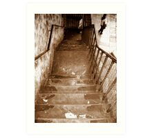 following the stairs... Art Print