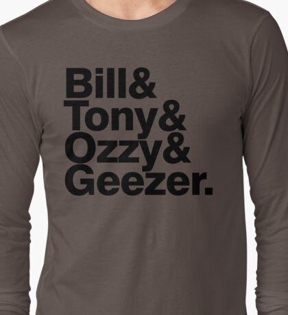 Black Sabbath member list ampersand shirt Long Sleeve T-Shirt