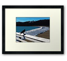 The Lone Crow Framed Print