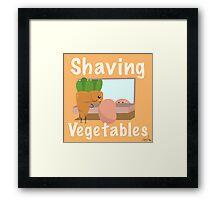 Shaving Vegetables by ToxxicArt Framed Print