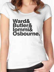 Black Sabbath member list last names ampersand shirt Women's Fitted Scoop T-Shirt