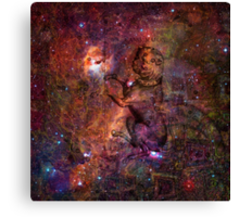When The Stars Are Right - The Seagull Nebula In Canis Major Canvas Print