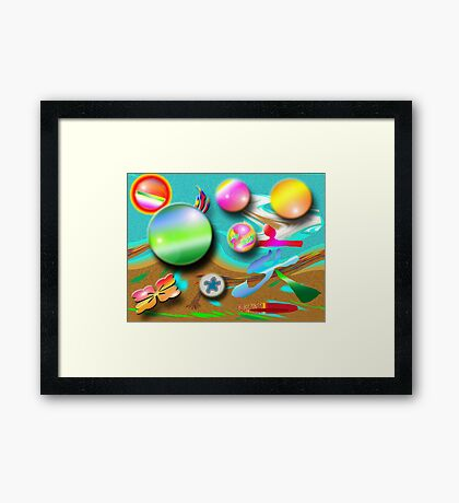 Fire Earth and Water Framed Print