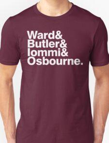Black Sabbath member list last names ampersand shirt T-Shirt