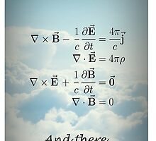 And God Said (Maxwell's equations) iPhone Case by Mathisco